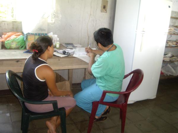 Consulta no Centro de Saúde