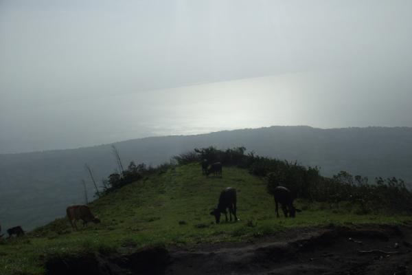 Lago dende o cumio do Volcán - Omepete
